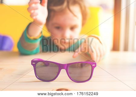 Baby And Sunglasses.
