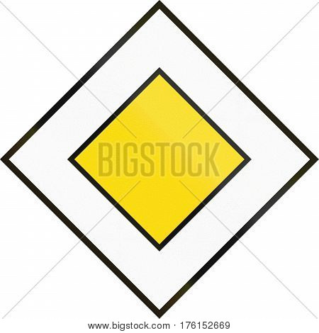 Cyprian Regulatory Road Sign - Priority Road