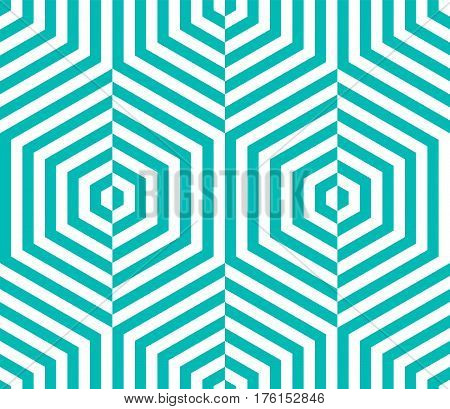 Abstract vector seamless op art pattern. Monochrome graphic ornament. Striped optical illusion repeating texture.