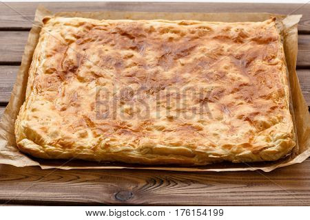 View Of A Puff Pastry Pie