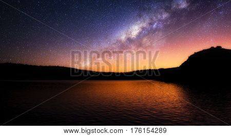 The milky way: I photographed this Great landscape during one night in Rio de Janeiro.