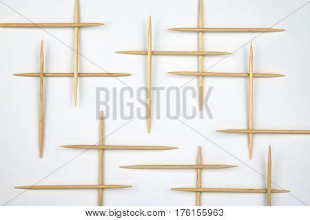 abstract background Toothpicks distributed to the grid