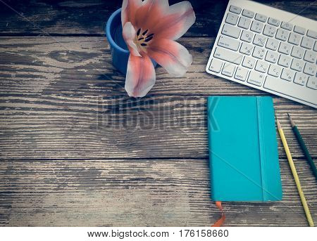 Business Workplace With Equivalent Concept On Wooden Background