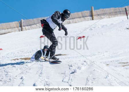 Manuel Mendes During The Snowboard National Championships