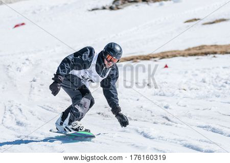 Tim Clasing During The Snowboard National Championships