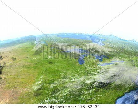 East Coast Of Canada On Earth - Visible Ocean Floor