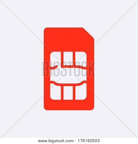 Sim card icon stock vector illustration flat design