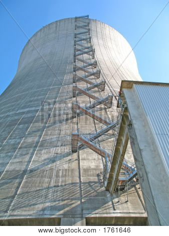 Stairs On Side Of Cooling Tower