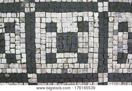granite pavement texture