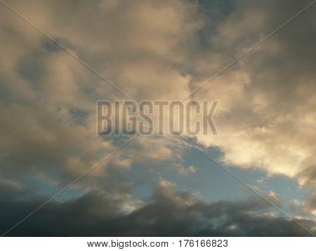 After a storm over san Jose, California, clouds cumlus