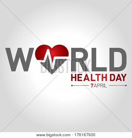 world health day logo icon and shape vector illustration