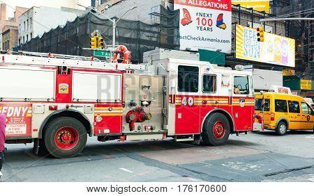Fdny Ladder 40 In Lower East Side In Manhattan