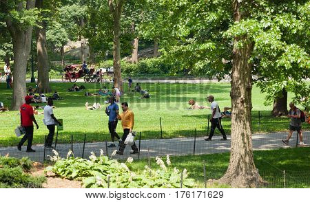 Central Park Is A Public Park At The Center Of Manhattan