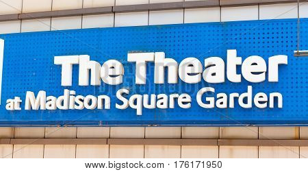 Sign Of The Theater At Madison Square Garden.