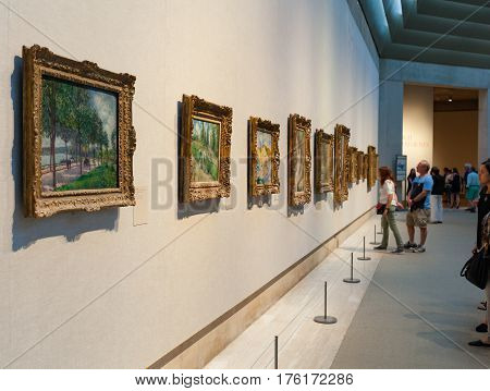 People Visit Metropolitan Museum Of Art In New York.