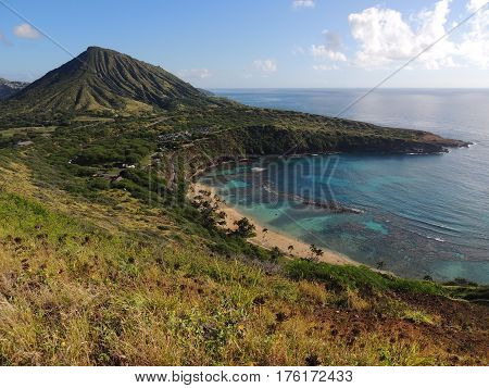 View of Koko Head Crater and Hanauma Bay