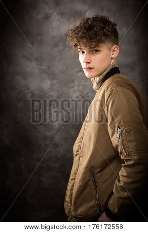 White Teenage Boy Studio Portrait