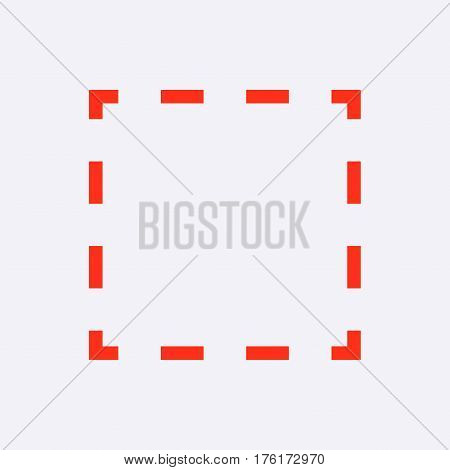square dashed line icon stock vector illustration flat design