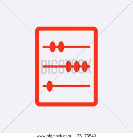 wooden abacus icon stock vector illustration flat design