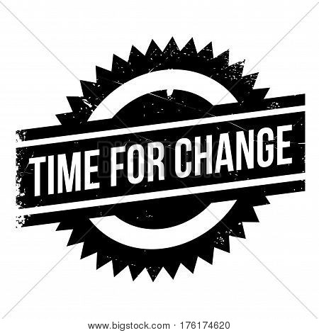 Time for change stamp. Grunge design with dust scratches. Effects can be easily removed for a clean, crisp look. Color is easily changed.