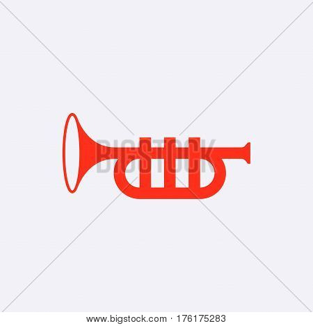 trumpet icon stock vector illustration flat design