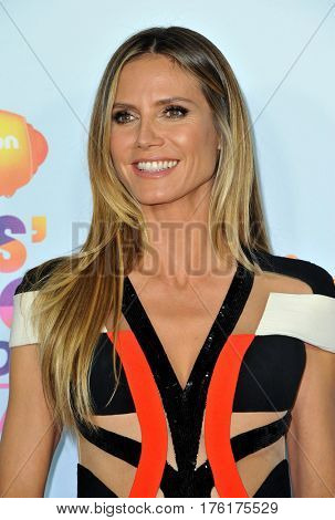 Heidi Klum at the Nickelodeon's 2017 Kids' Choice Awards held at the USC Galen Center in Los Angeles, USA on March 11, 2017.