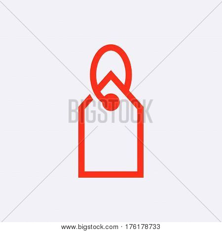 tag icon stock vector illustration flat design