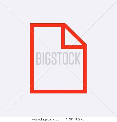 Blank sheet of paper icon stock vector illustration flat design