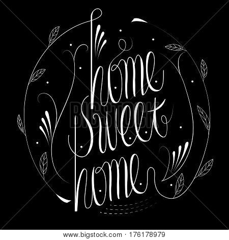 Home Sweet Home Calligraphy Design