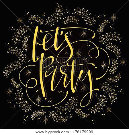 Let's Party Calligraphy Design