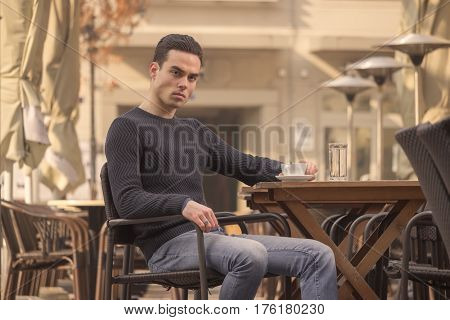 Young Man, Angry, Pissed Off, Coffee