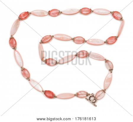 Elegant jewellery isolated on the white background