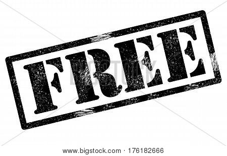 free rubber stamp on white background. free rubber stamp sign.