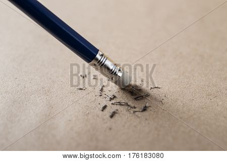 Eraser and error pencil concept Mistake erase concept