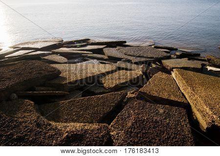 Gastropod Fossil Shell Beach 75 millions years old shell cemetery Krabi Thailand