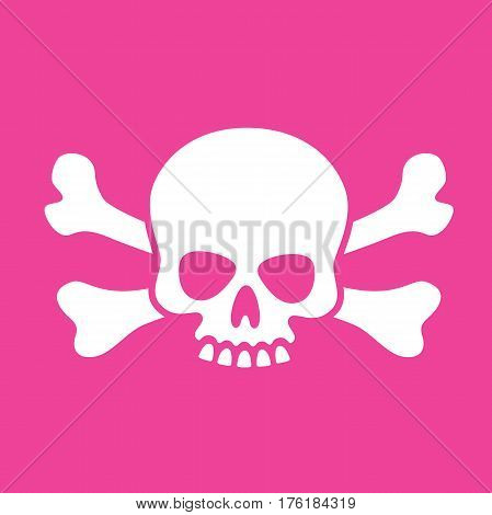 Goofy Skull and Crossbones Vector illustration of fun cartoon skull design
