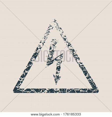 High voltage danger sign. Vector illustration. Grunge style vector illustration