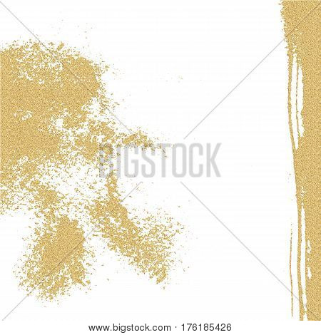 Abstract grunge painted gold texture. Scratch urban background. Splatter paint texture. Distress grunge background. Scratch grain noise stamp.