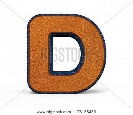 Brown Letter D