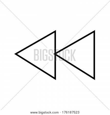 Thin Line Reverse Backward Sign Icon
