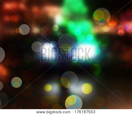 Abstract colorful light boken on dark background