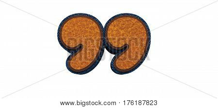 Brown Quotation Mark