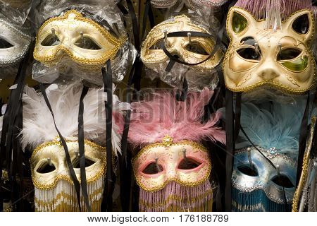 Masks from the Venetian Carnival in Venice