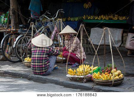 Vendor In Hoi An Ancient Town, Vietnam