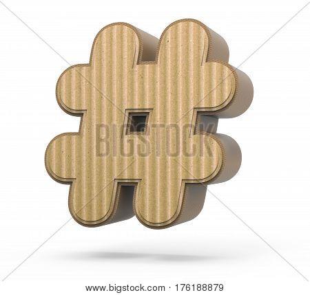 Corrugated Hashtag Mark