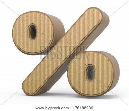Corrugated Percent Mark