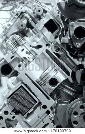 Piston and cylinder details of internal combustion engine