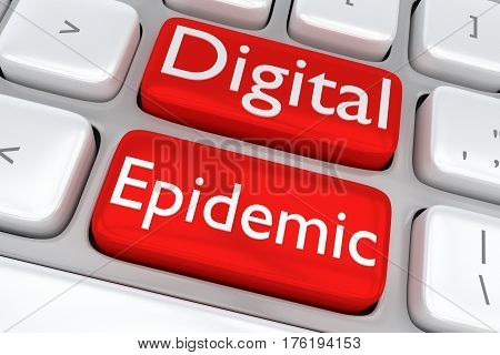Digital Epidemic Concept