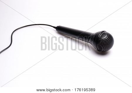 microphone toy karaoke white paper texture background