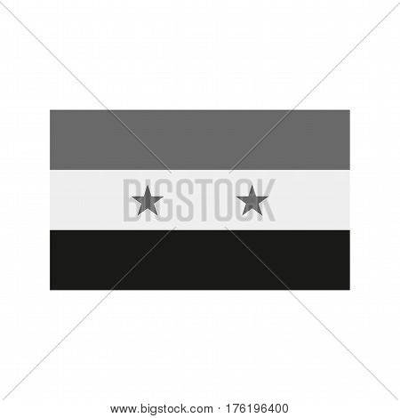 Syria, flag, national icon vector image. Can also be used for flags. Suitable for web apps, mobile apps and print media.